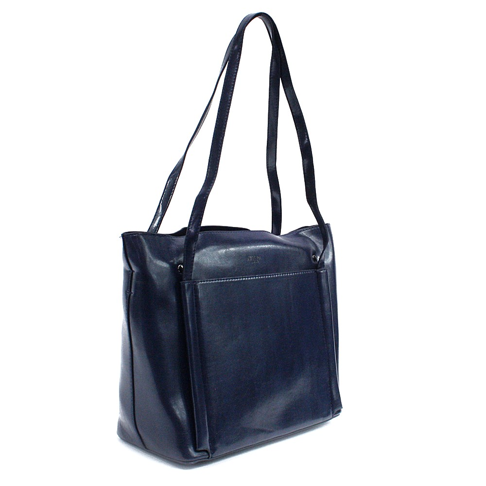 Tmavě modrá dámská luxusní kabelka do ruky i přes rameno Richerre