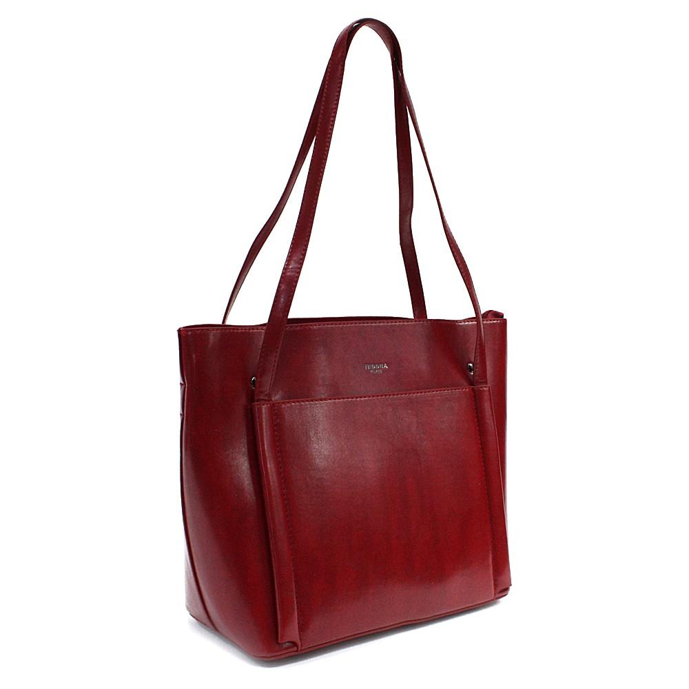 Červená dámská luxusní kabelka do ruky i přes rameno Richerre