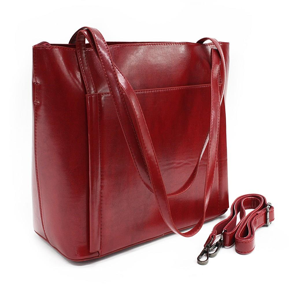 Vínově červená dámská luxusní kabelka do ruky i přes rameno Richerre