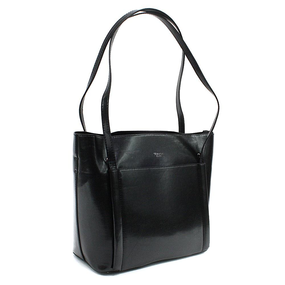 Černá dámská luxusní kabelka do ruky i přes rameno Richerre
