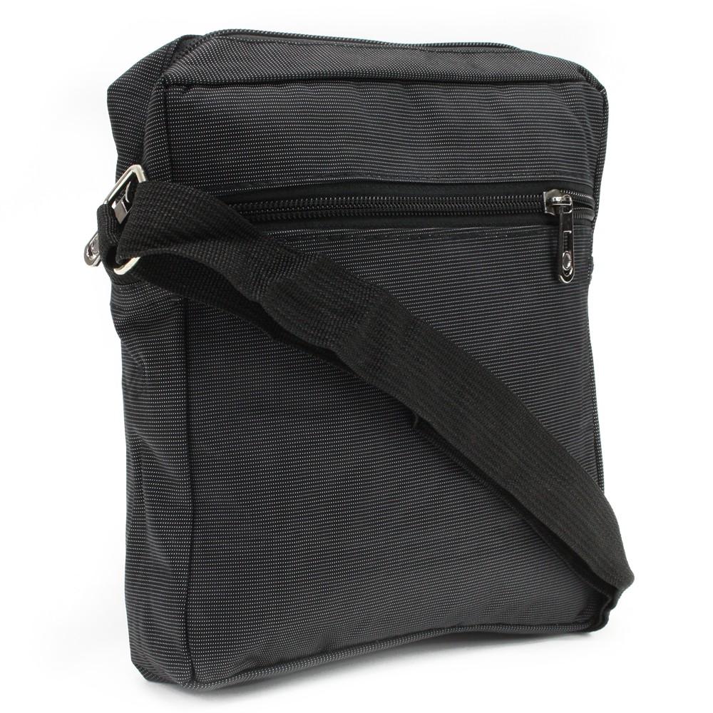 Černá menší pánská crossbody taška Gershon