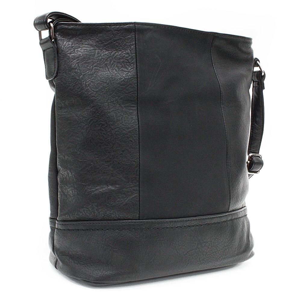 Černá elegantní větší dámská kabelka Itzel