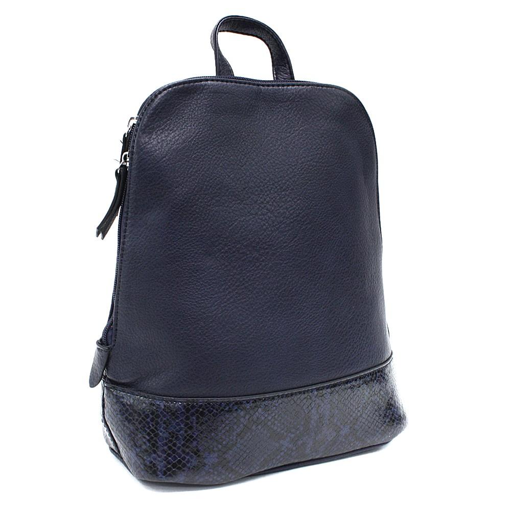 Tmavě modrý stylový dámský batoh/kabelka Leondra