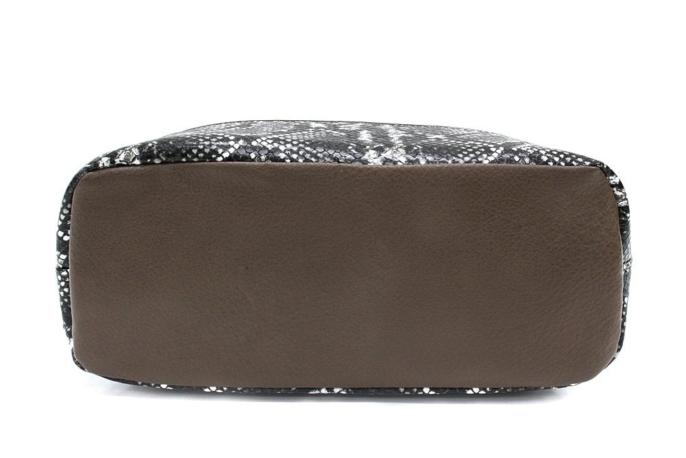 Hnědošedý stylový dámský batoh/kabelka Leondra