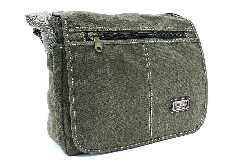 Tmavě zelená pánská látková crossbody taška Colbert