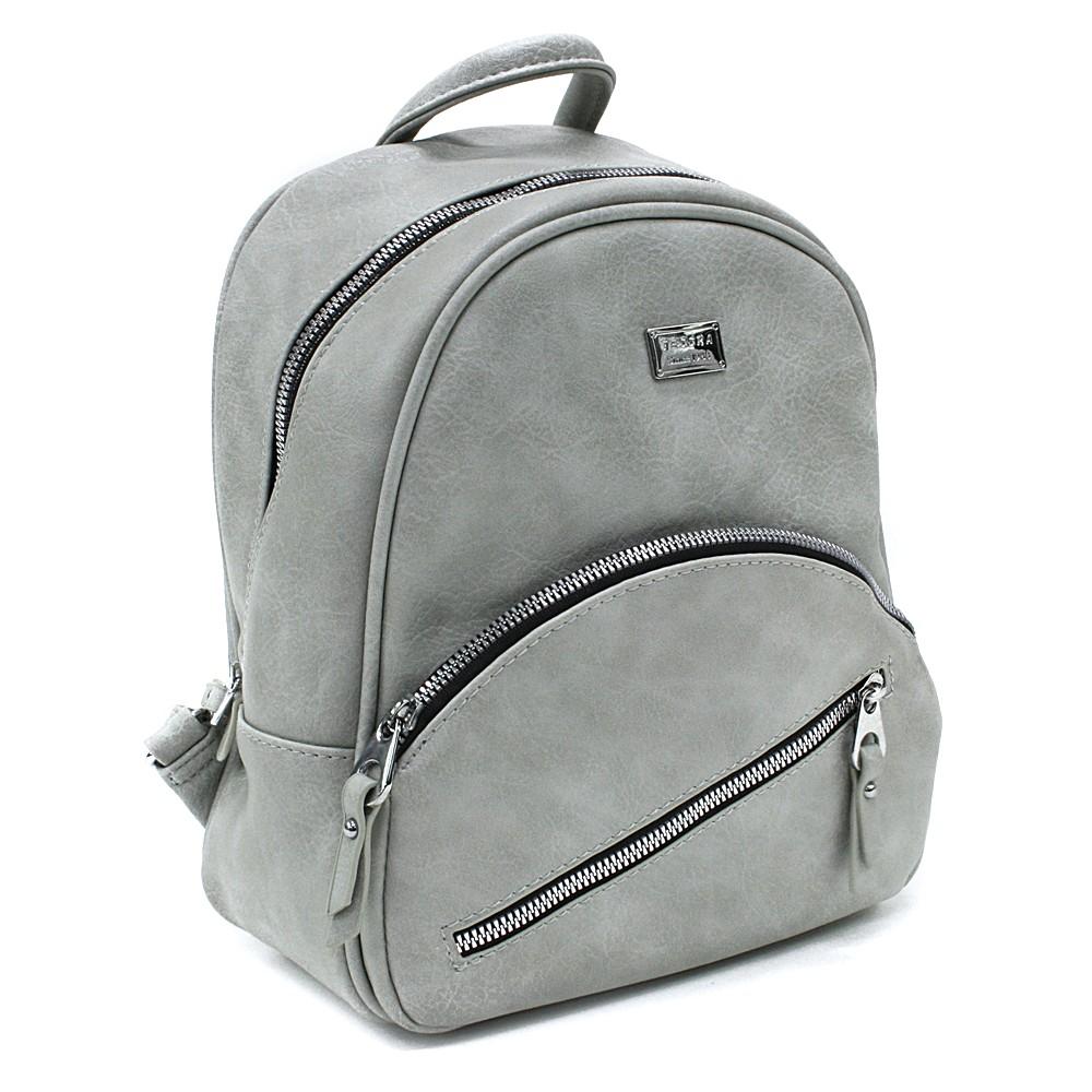 Světle šedý menší elegantní dámský batoh Madge