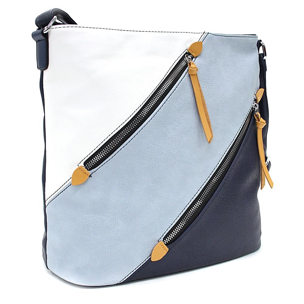 Modrá barevná crossbody dámská kabelka Carnation