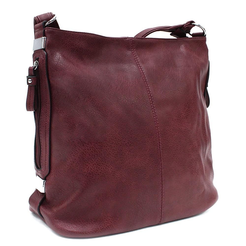 Bordó praktická dámská kabelka Sharnta