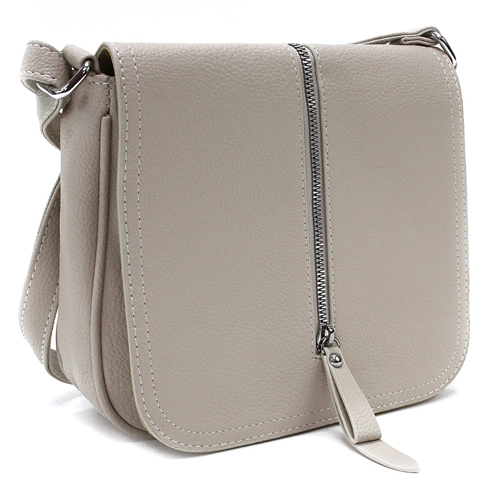 Béžová malá dámská crossbody kabelka s klopnou Jeslyn