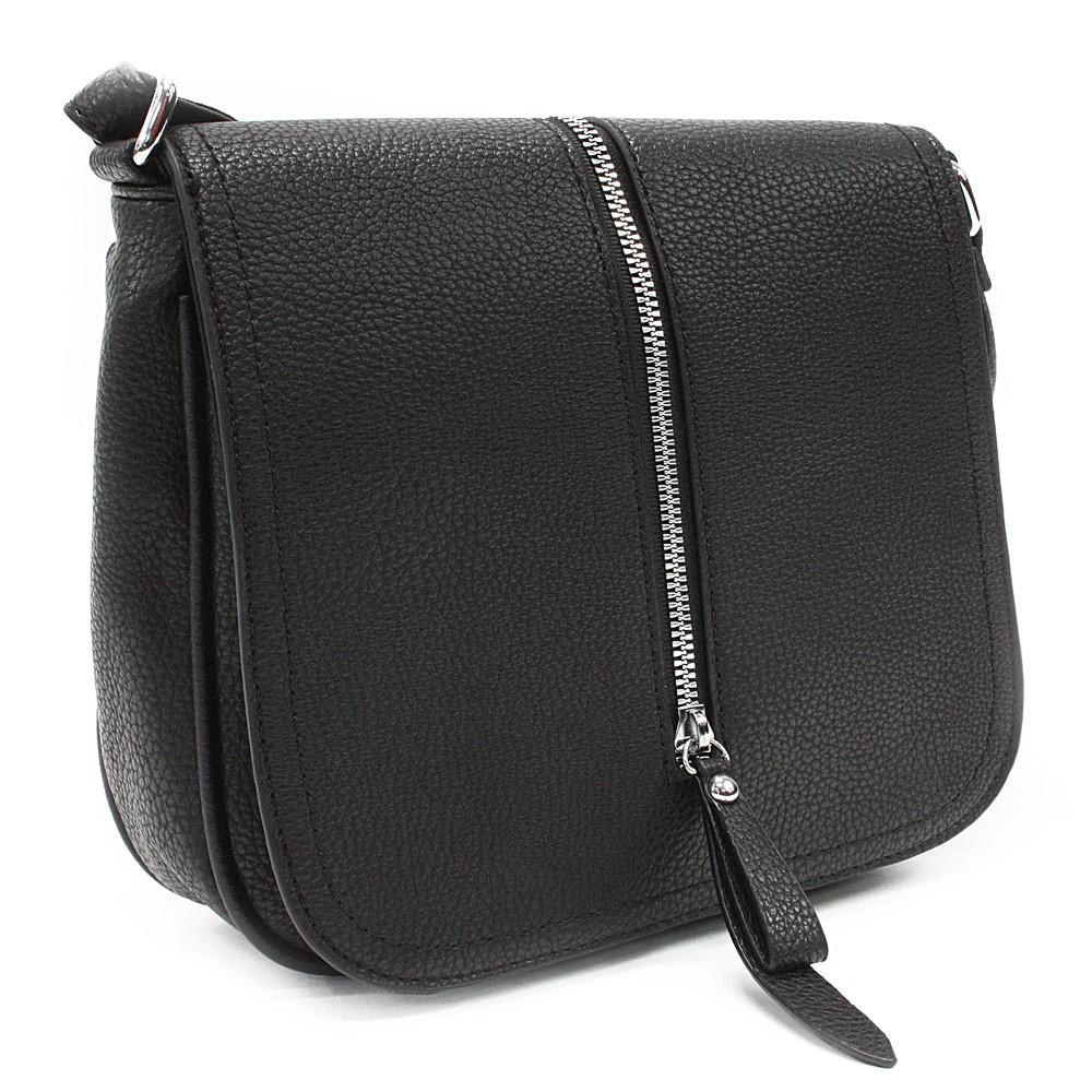 Černá malá dámská crossbody kabelka s klopnou Jeslyn