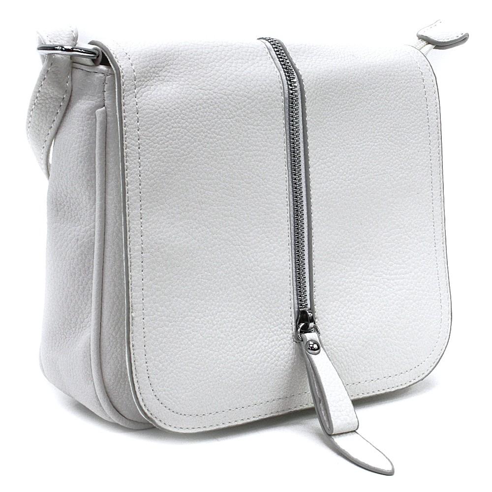 Bílá malá dámská crossbody kabelka s klopnou Jeslyn