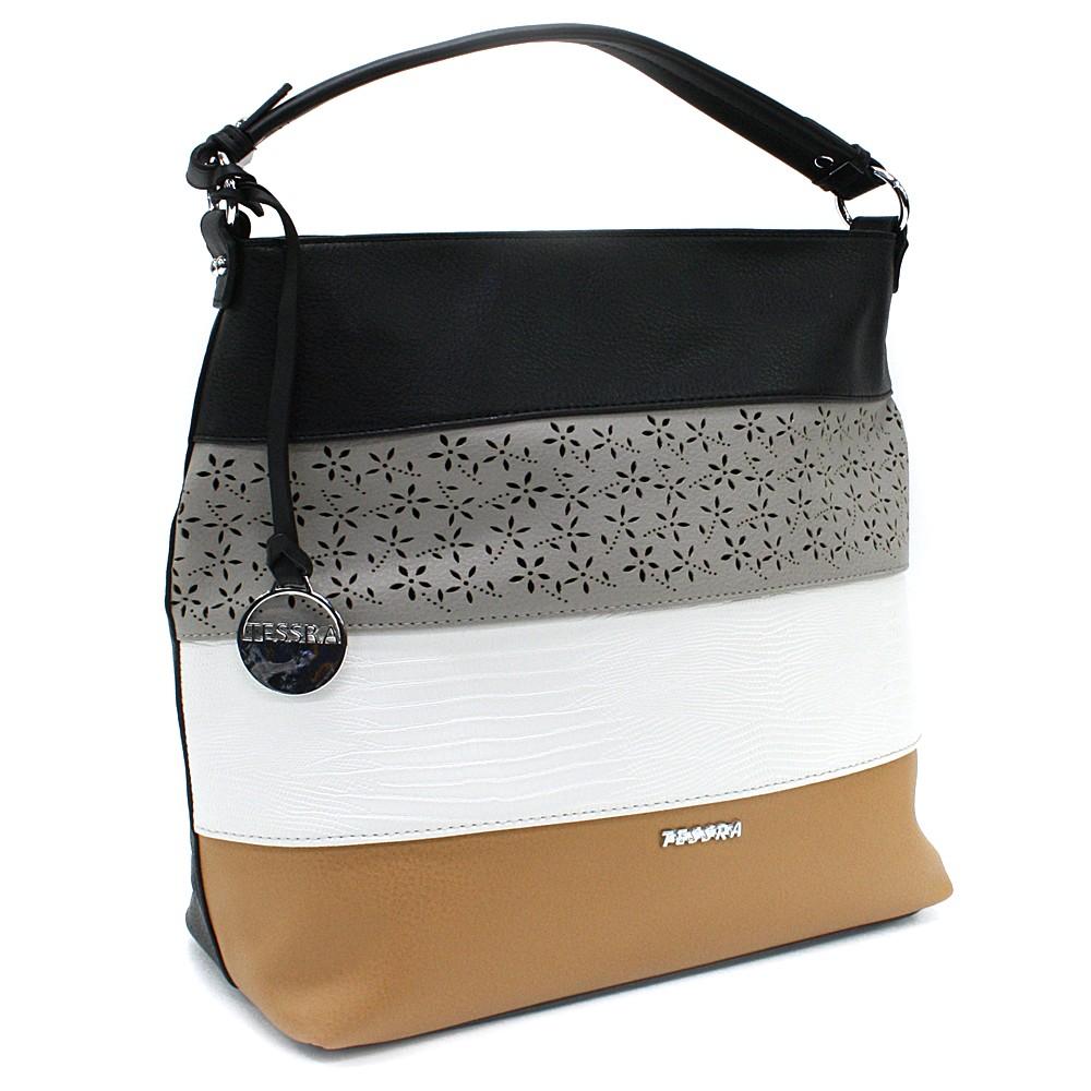 Černá barevná dámská kabelka na rameno Fayanna