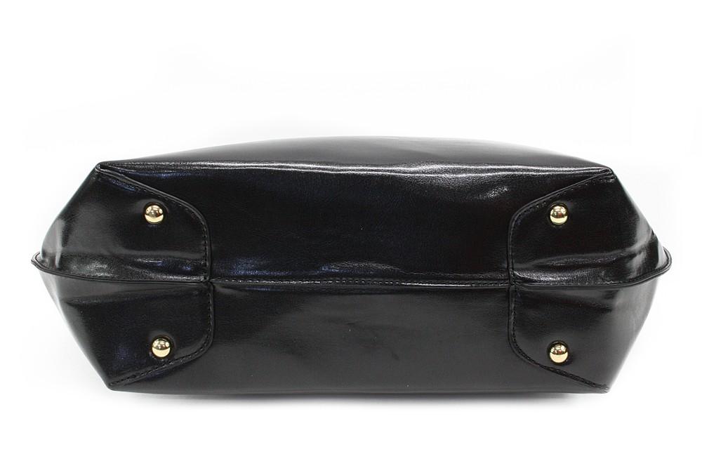 Černá dámská luxusní kabelka do ruky i přes rameno Apollina