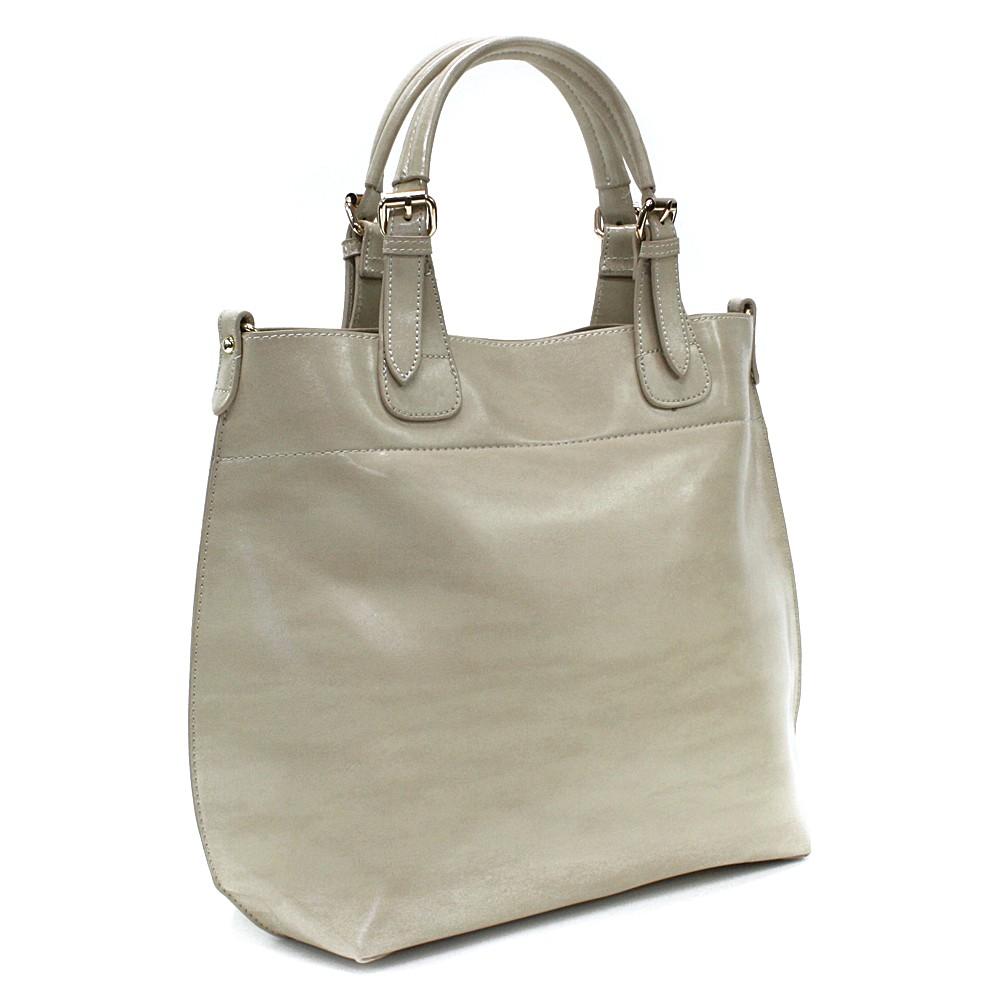 Béžová dámská luxusní kabelka do ruky i přes rameno Apollina