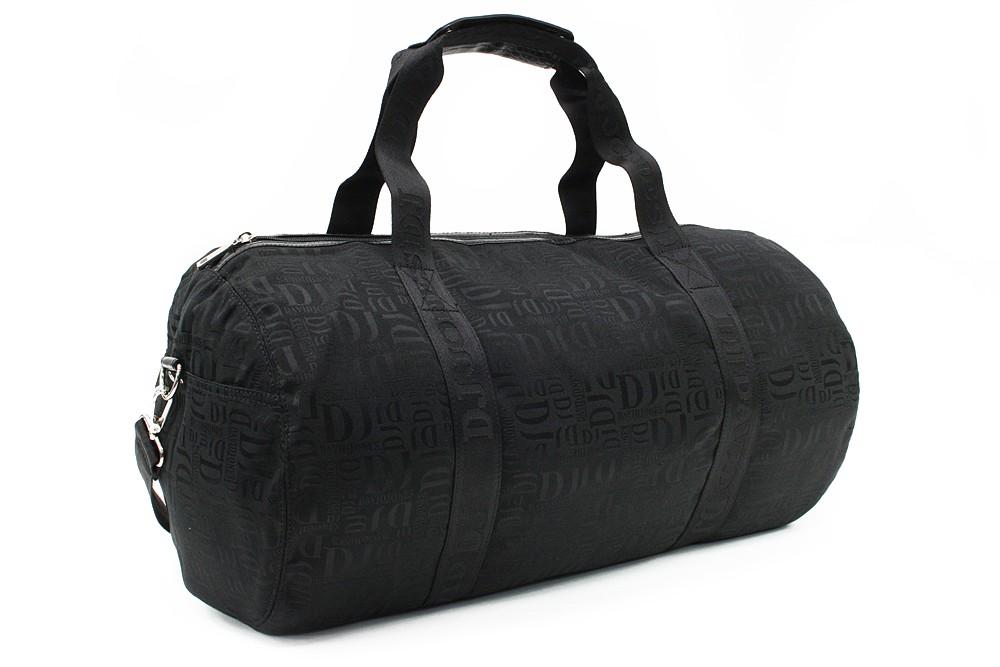 Černá velká cestovní látková taška se vzorem Nelda