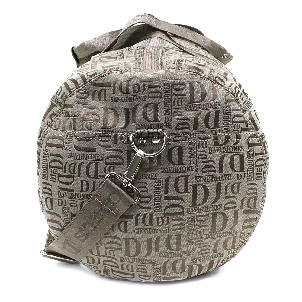Hnědá velká cestovní látková taška se vzorem Nelda