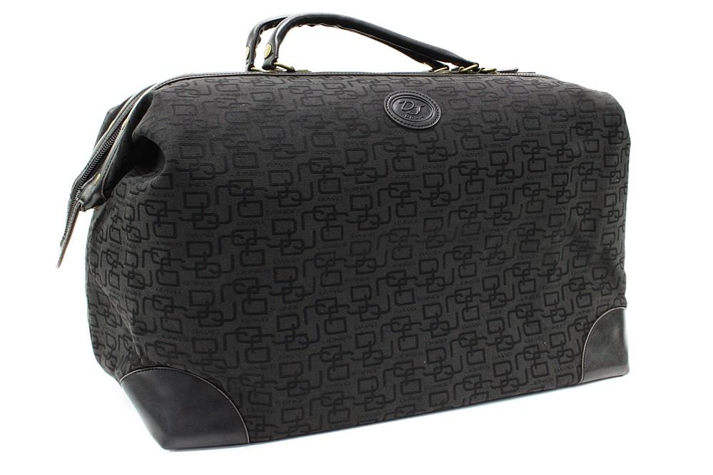 Černá velká cestovní látková taška se vzorem Gabie