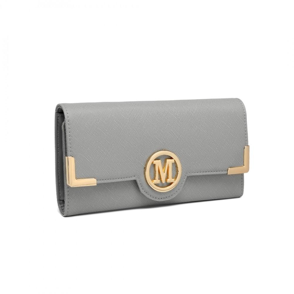 Šedá klasická dlouhá dámská peněženka Nayeli
