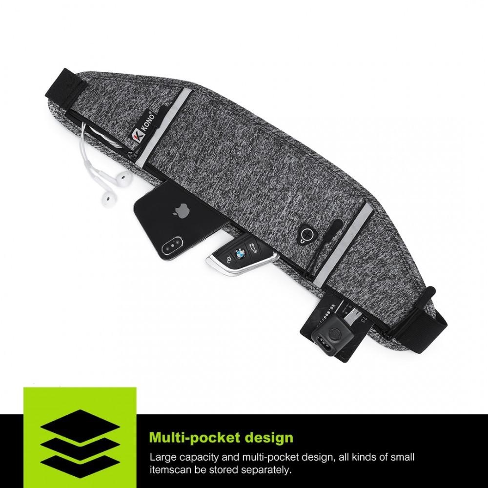 Černošedá dámská sportovní mini kabelka ledvinka Briley