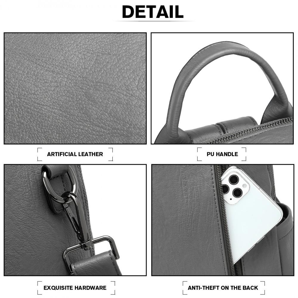 Šedý stylový luxusní batoh Jorge