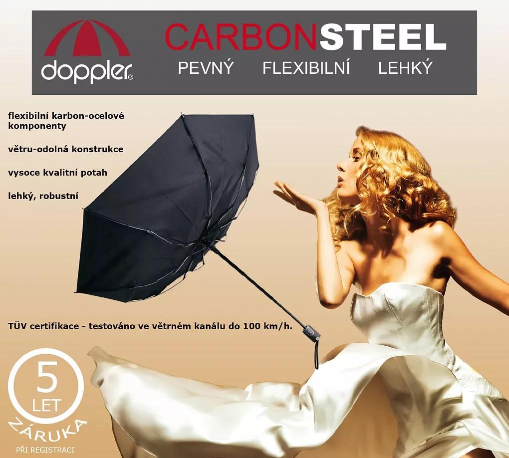 Fialový plně automatický skládací dámský deštník s květy Jimena