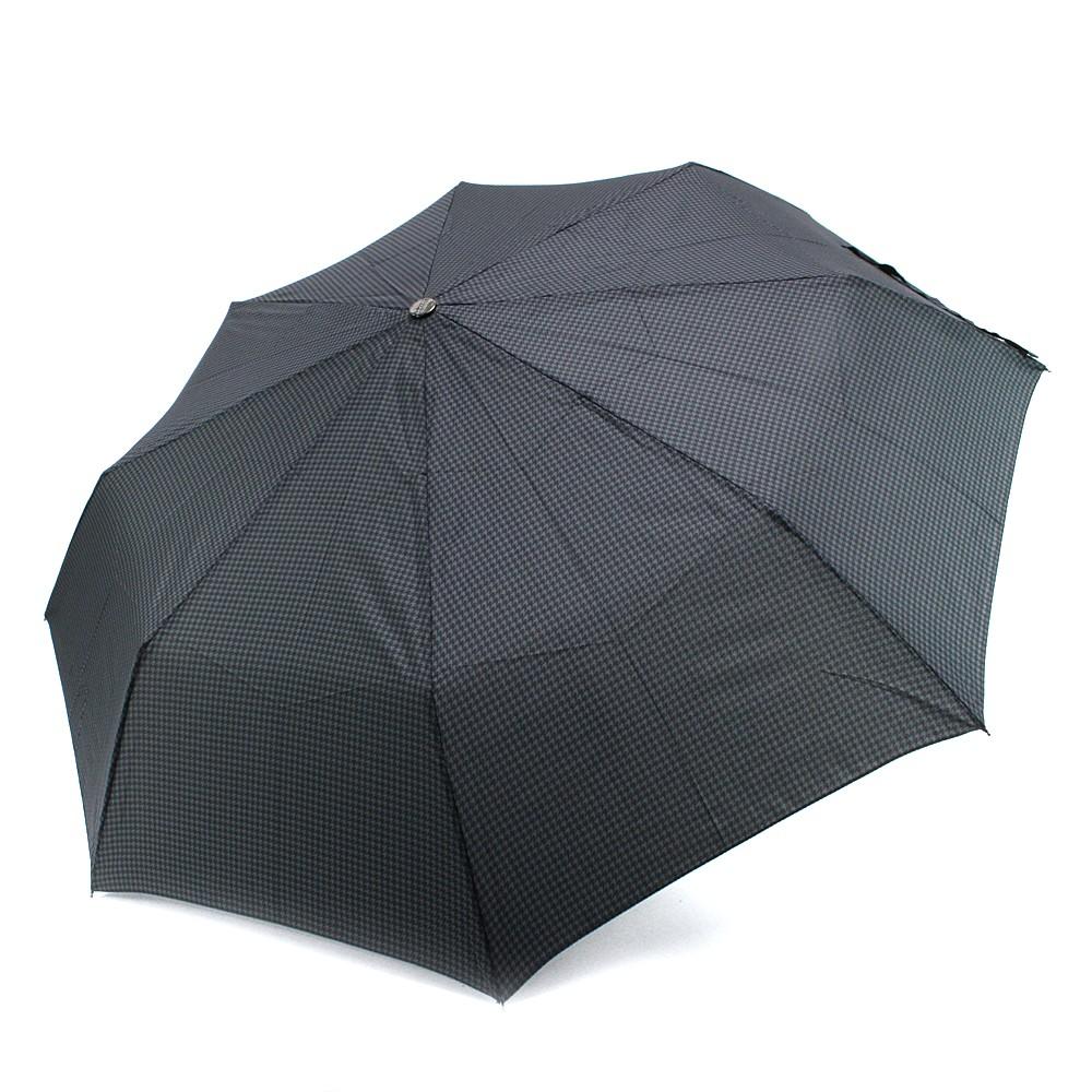 Šedý plně automatický skládací pánský deštník se vzorkem Thiago