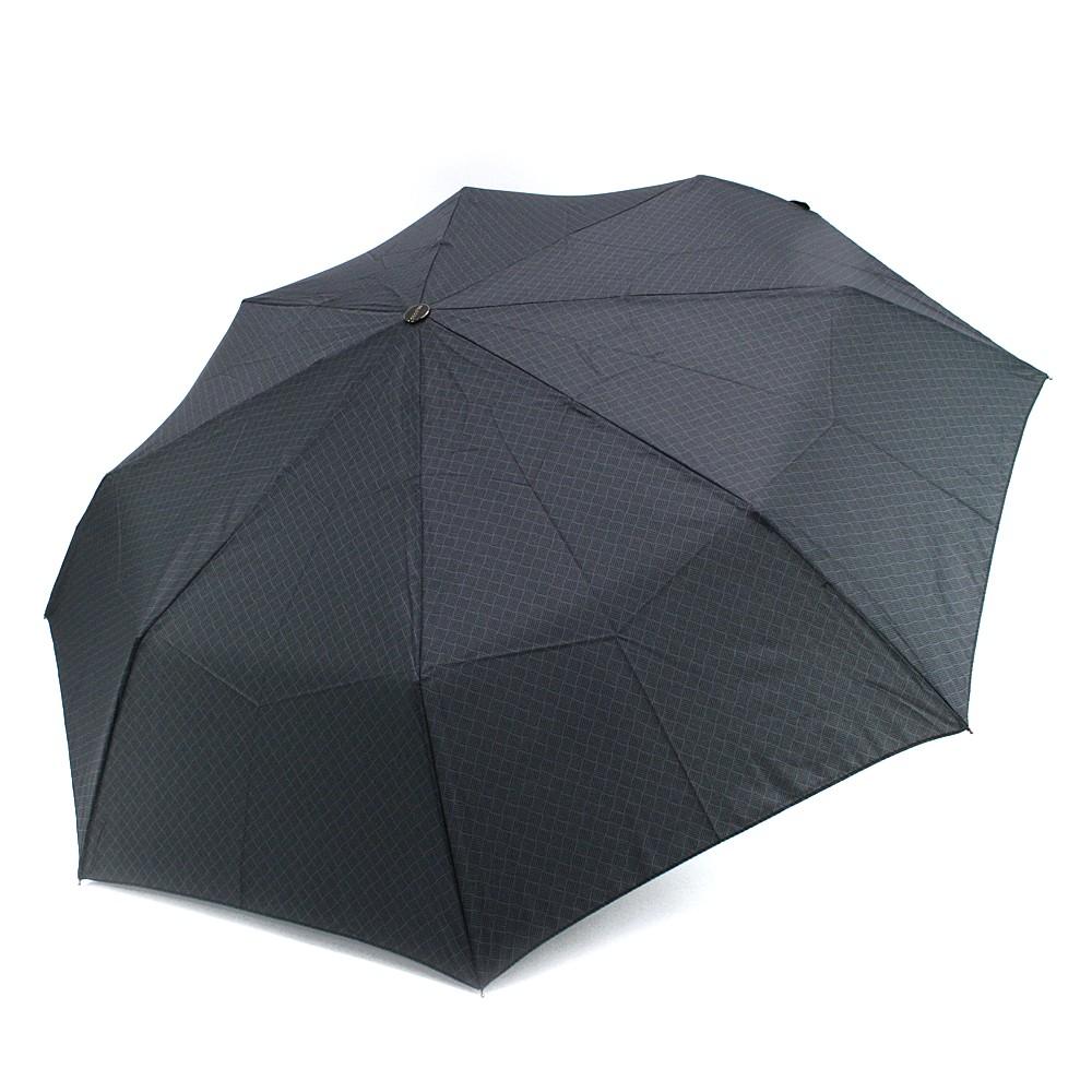 Šedý plně automatický skládací pánský deštník s čárkou Thiago
