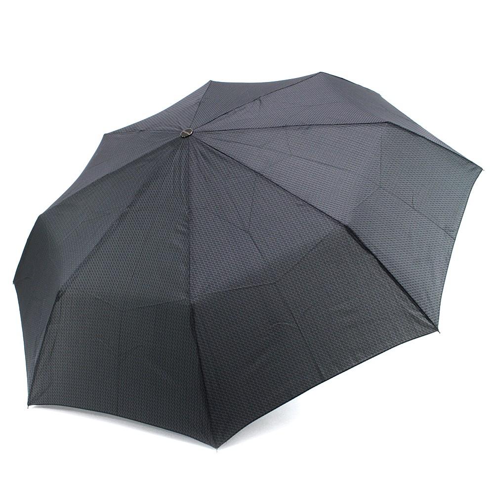 Šedý plně automatický skládací pánský deštník s vlnkou Thiago