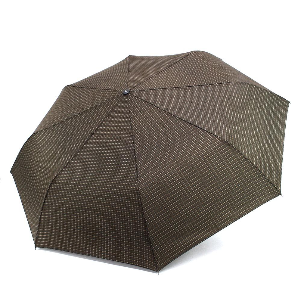 Hnědý plně automatický skládací pánský deštník Arlen