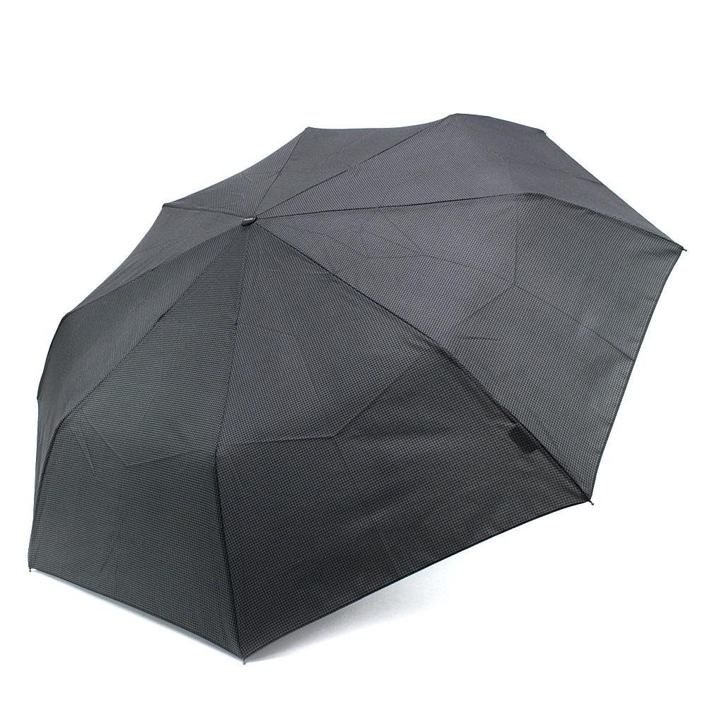 Šedočerný plně automatický skládací pánský deštník Arlen