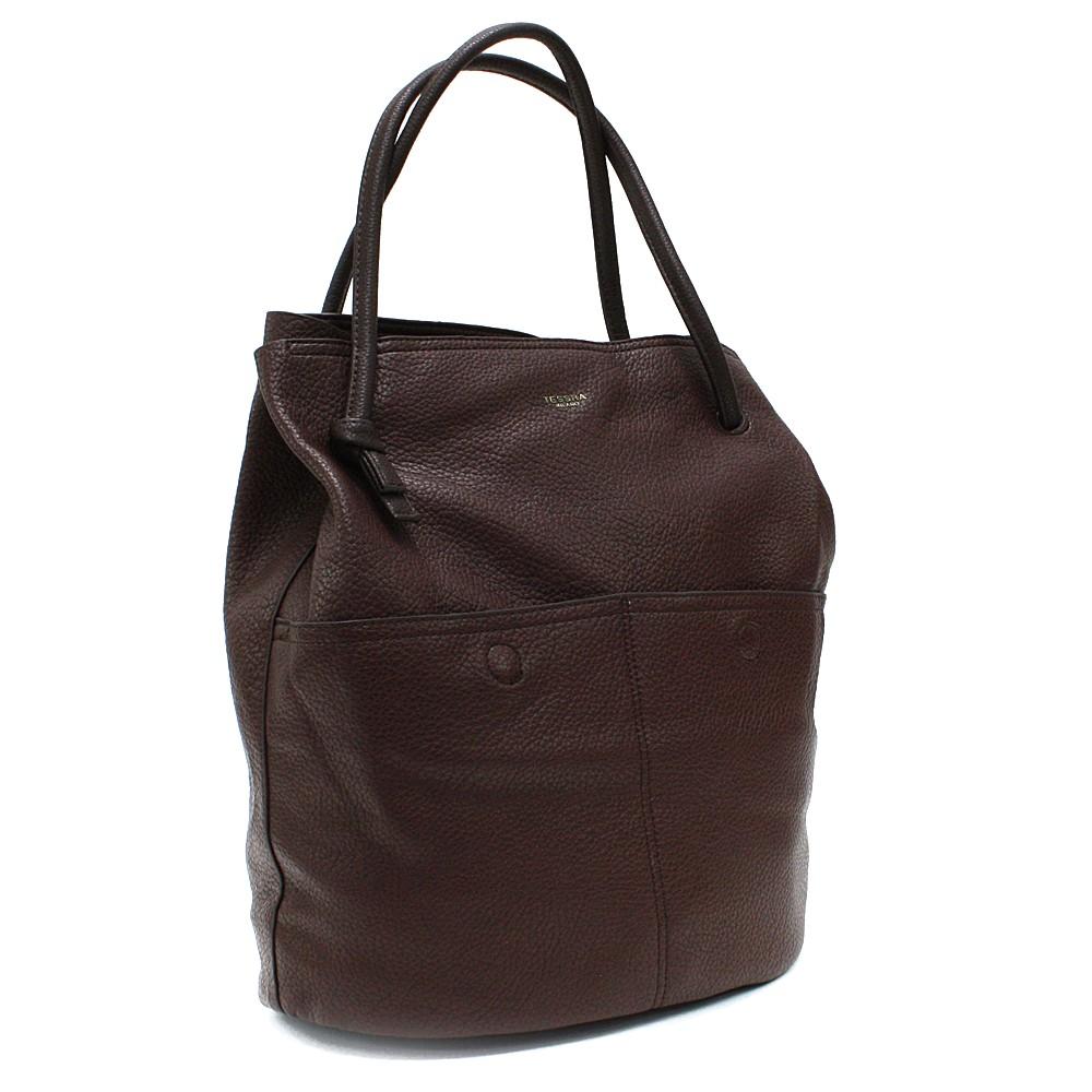 Kávově hnědá prostorná dámská kabelka ve tvaru vaku Lacyann