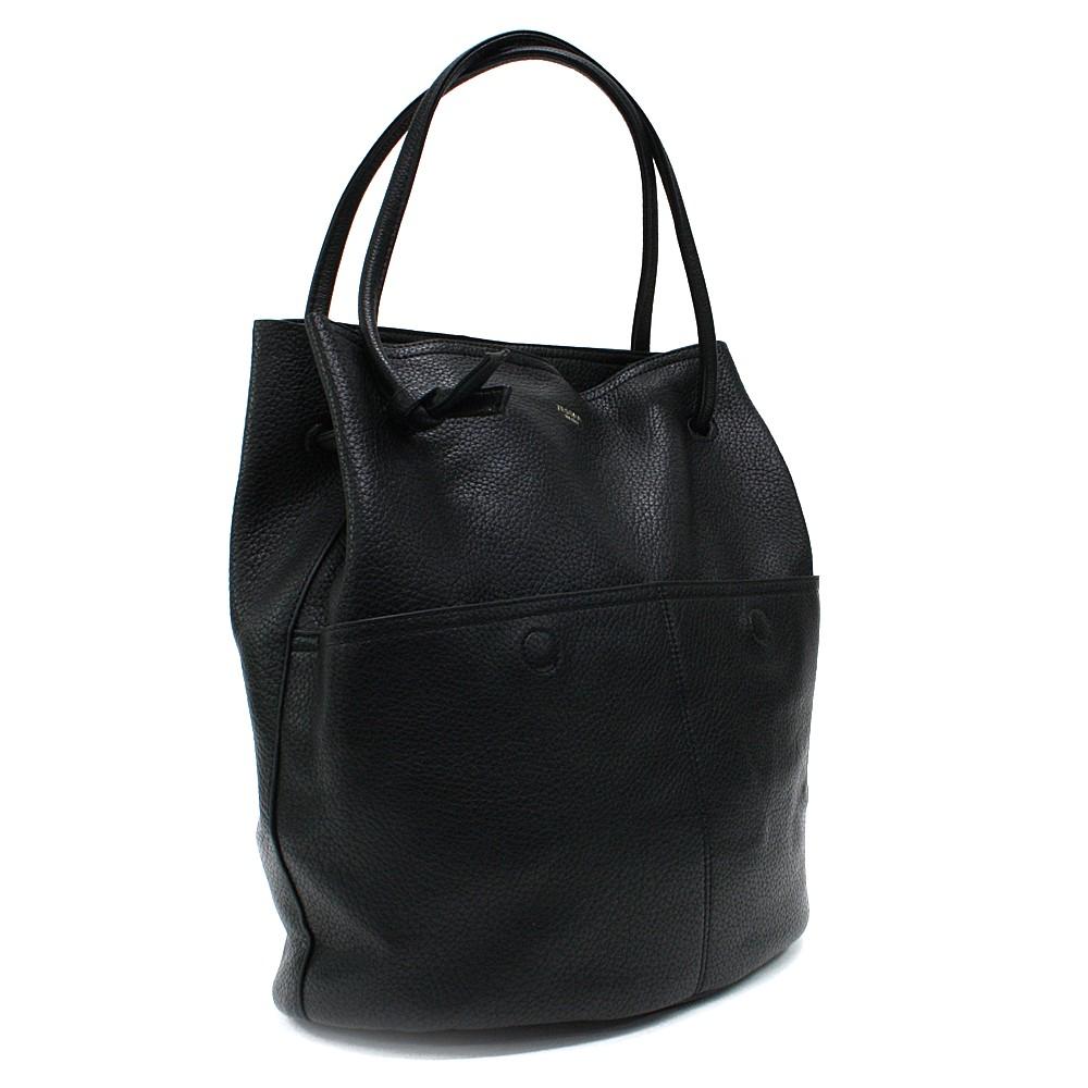 Černá prostorná dámská kabelka ve tvaru vaku Lacyann