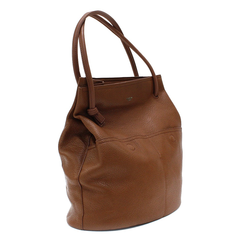 Hnědá prostorná dámská kabelka ve tvaru vaku Lacyann