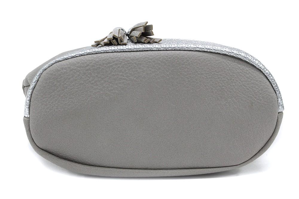 Šedostříbrná menší crossbody kabelka Chardae