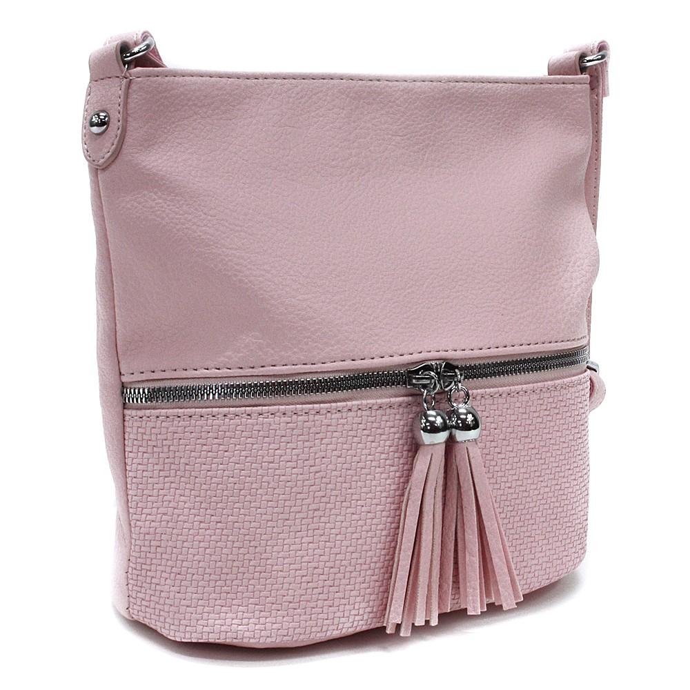 Růžová menší dámská crossbody kabelka Chardae