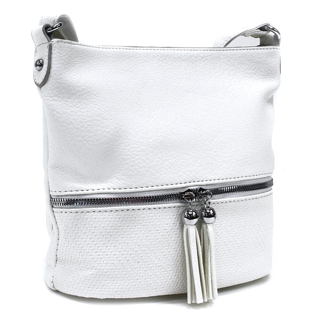 Bílá menší dámská crossbody kabelka Chardae