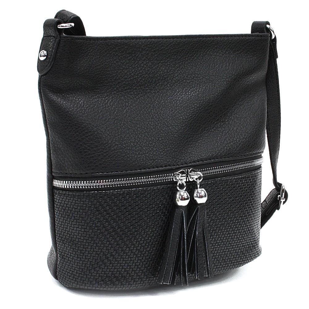 Černá menší dámská crossbody kabelka Chardae