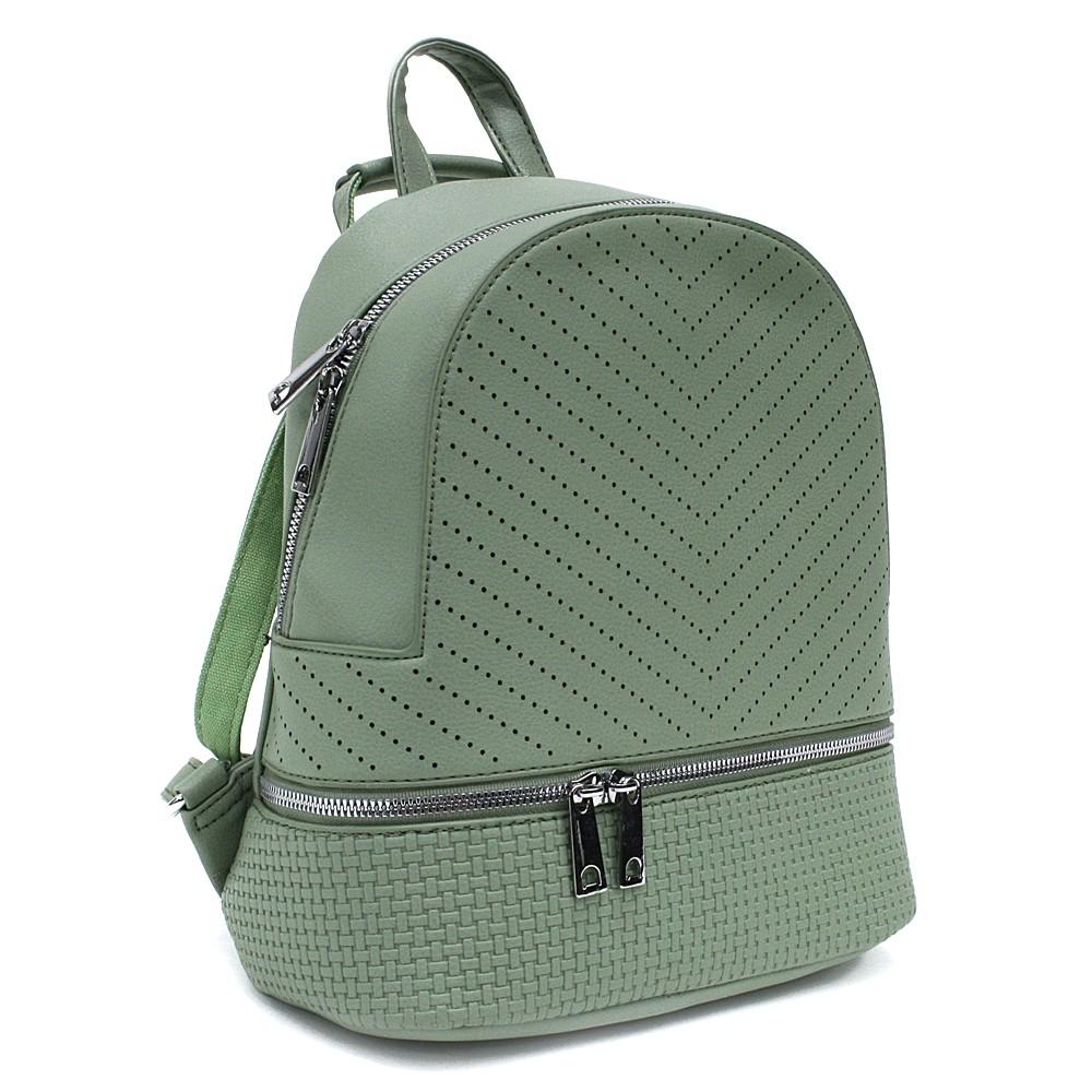 Zelený moderní dámský batoh Astyn