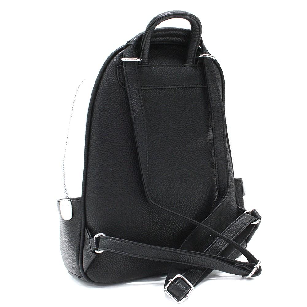 Černobílý stylový dámský batoh Gianna