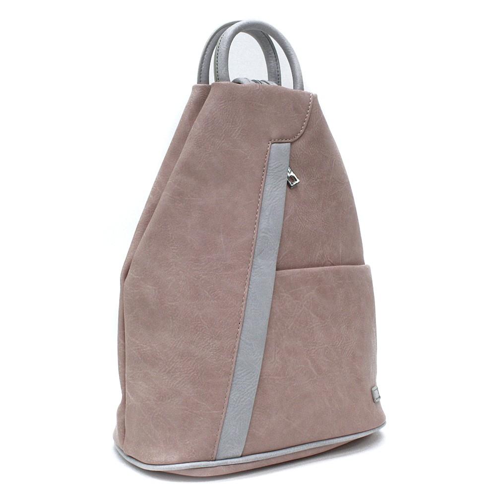 Růžovošedý moderní dámský batoh Kilie