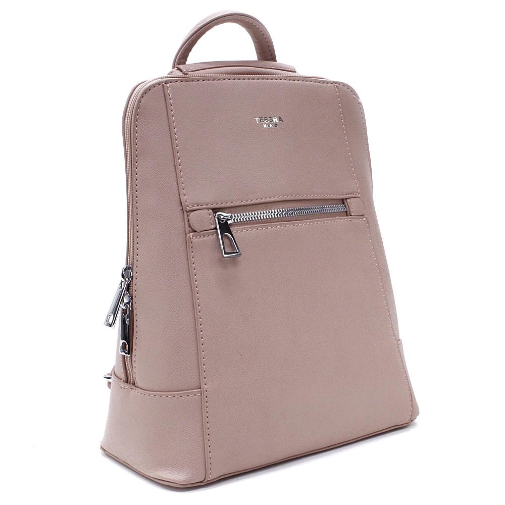 Růžový městský dámský batoh Maritza