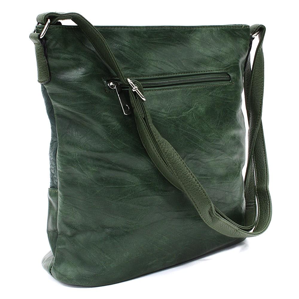 Tmavě zelená dámská crossbody kabelka Mavis