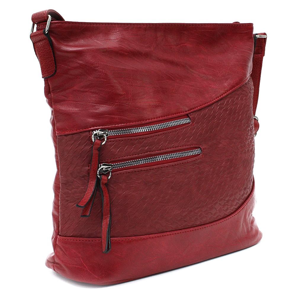 Červená dámská crossbody kabelka Mavis