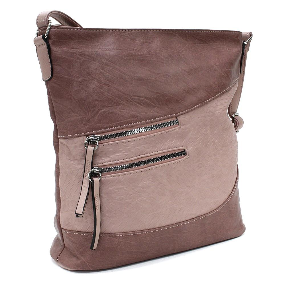 Růžová dámská crossbody kabelka Mavis