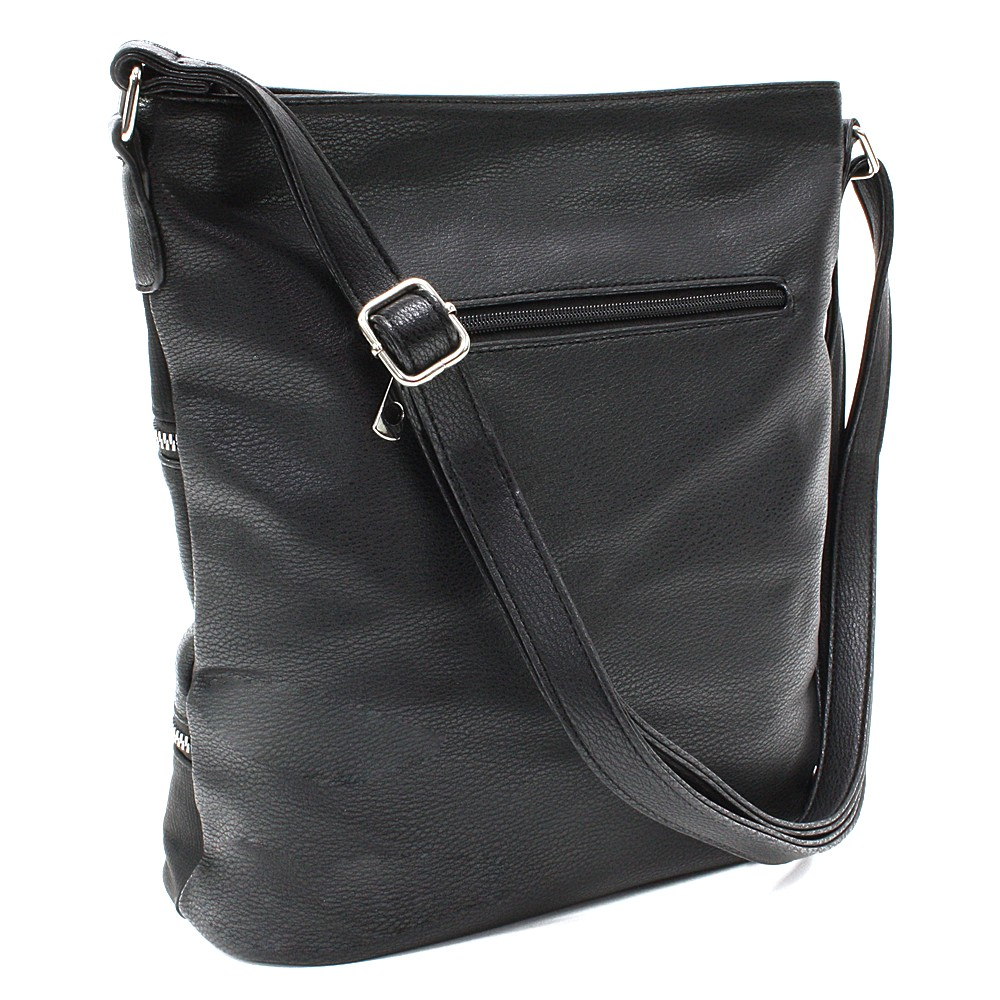 Černá dámská moderní zipová crossbody kabelka Lirienne