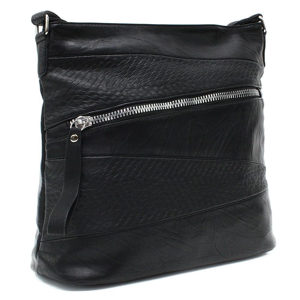 Černá moderní dámská crossbody kabelka Eloisee