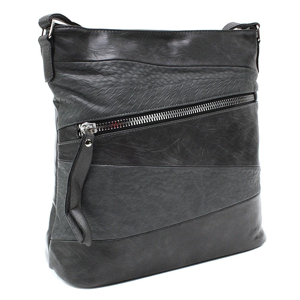 Tmavě šedá moderní dámská crossbody kabelka Eloisee