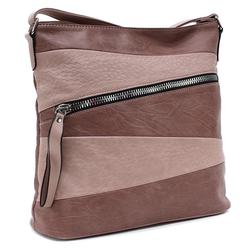 Růžová moderní dámská crossbody kabelka Eloisee