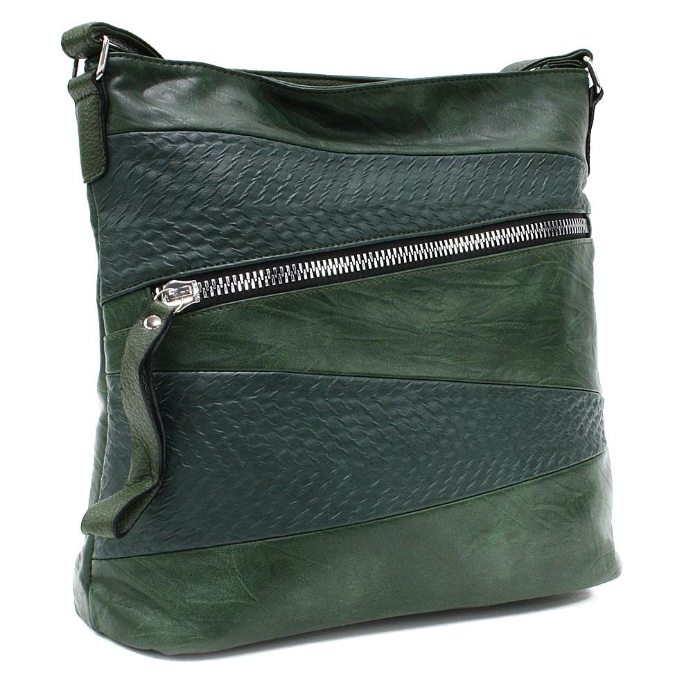 Tmavě zelená moderní dámská crossbody kabelka Eloisee