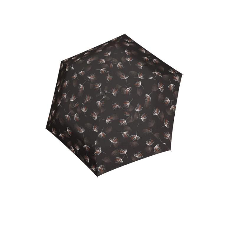 Hnědý mechanický ultralehký skládací dámský deštník Zoie